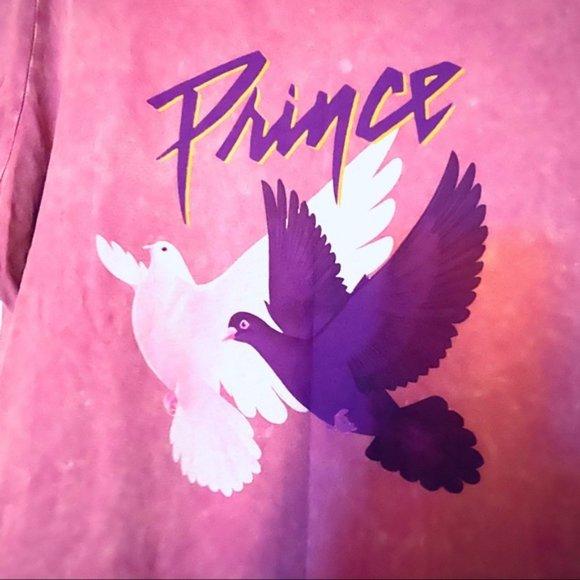 Prince Tops - PRINCE Purple Doves Music Graphic Band Tee Shirt